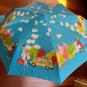 Totes Auto Open Blue City Girl Life Umbrella